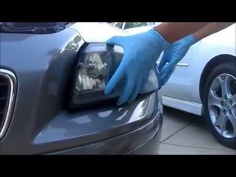Volvo S40 V50 headlight low beam replacement - YouTube