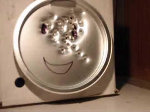 "high pressure 0.177"" BB Machine Gun slow motion vs aluminum plate"