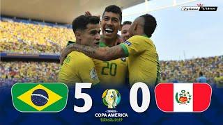 Brasil 5 x 0 Peru ● 2019 Copa América Extended Goals & Highlights HD