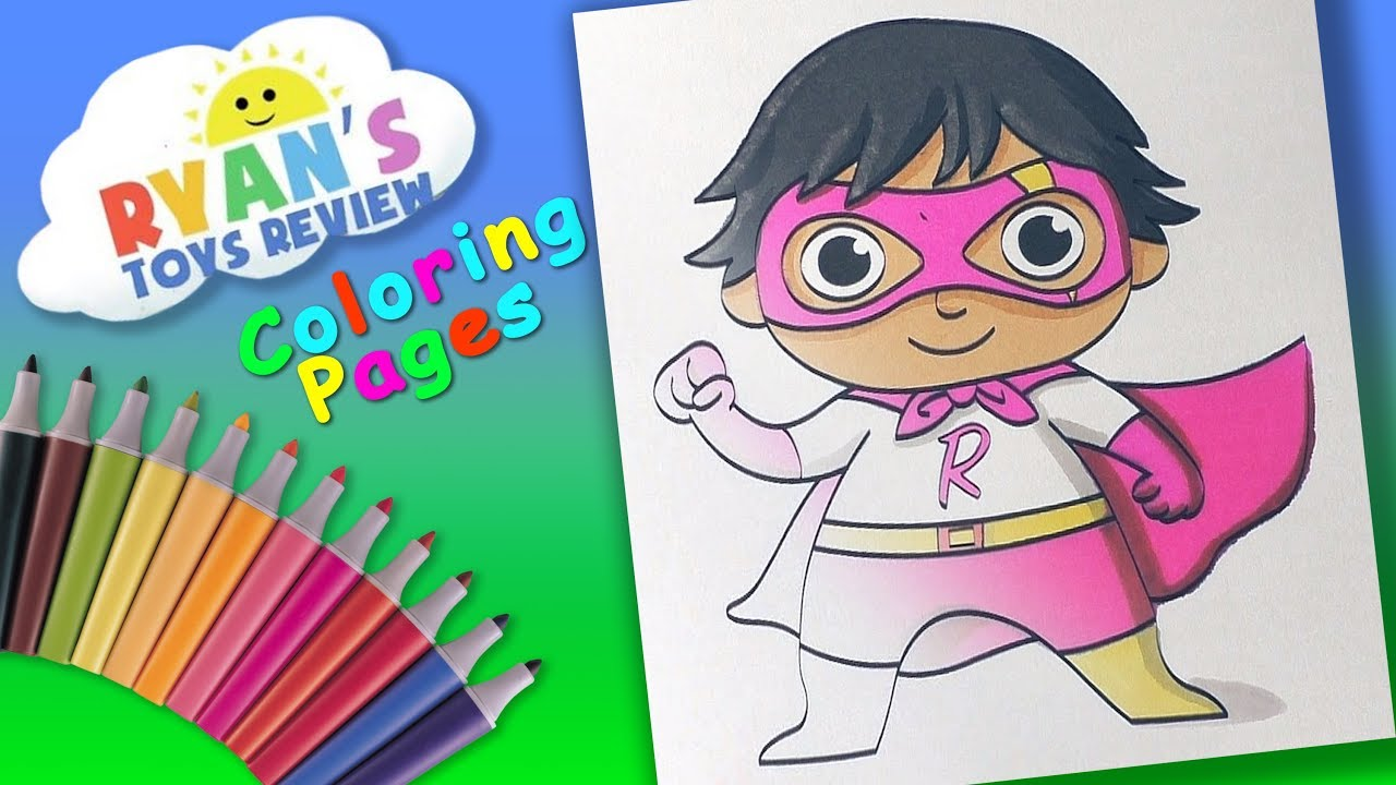 Ryan ToysReview Coloring Page #ForKids Learn coloring with #Ryan & Great  kids channel