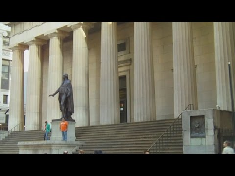Federal Hall On Wall Street In New York City