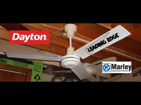 Dayton Marley Leading Edge Ceiling Fan 2 Of 2 Youtube