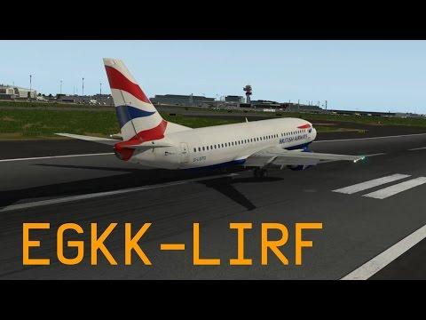X-Plane 10 | Gatwick - Rome | IXEG 737-300 British Airways