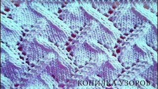 Ажурный летний узор спицами для пуловера или платья схема и описание