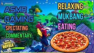 ASMR Gaming ???? Fortnite Mukbang Eating Pepperoni Tuna Pizza Commentary 먹방 ???????? Relaxing ????????