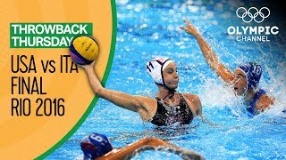 Women's Water Polo Final - HIGHLIGHTS - Rio Replays | Throwback Thursday