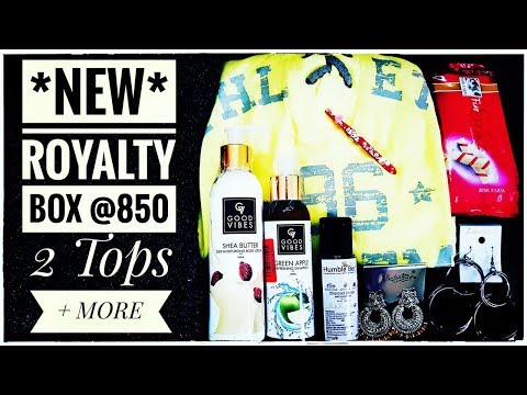 *New* Royalty Box | Starting @499 | First on Youtube |2 Clothing items| Unboxing & Review | Giveaway