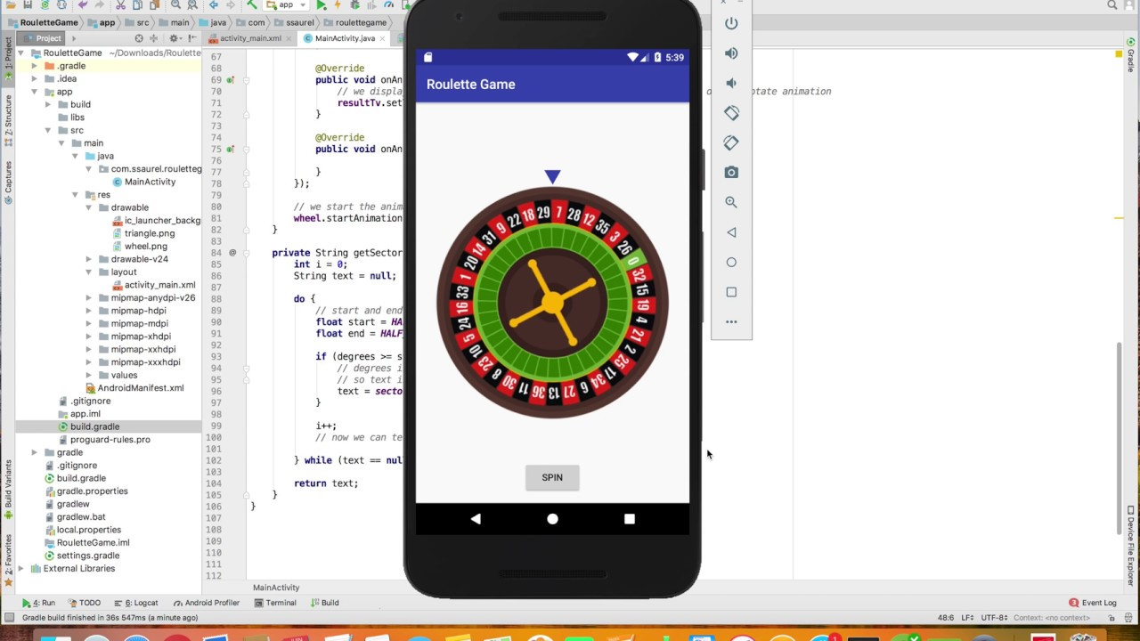 Develop a Roulette Game for Android – All for Android