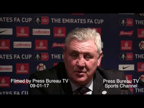 Steve Bruce reaction Tottenham vs Aston Villa FA CUP