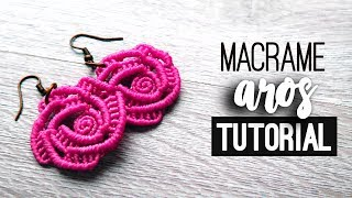 Aros de rosa » 🌹 tutorial | como hacer | diy ● Earrings #121