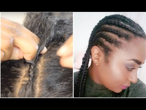 How To Cornrow Your Own Hair Tutorial Beginner Friendly Chanelli