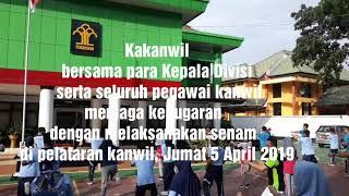 Senam Kanwil Kemenkumham Sultra, Jumat 5 April 2019