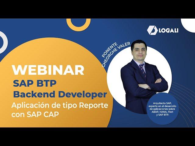 Webinar SAP BTP Backend Developer - Aplicación de tipo Reporte con SAP CAP