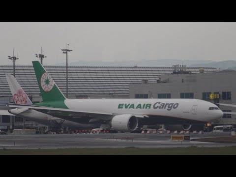 Plane Spotting B-16781 EVA AIR Cargo Boeing 777-F5E Takeoff Runway at RCTP with ATC 桃園機場起飛