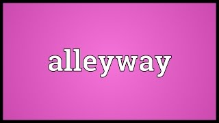 Alleyway Meaning