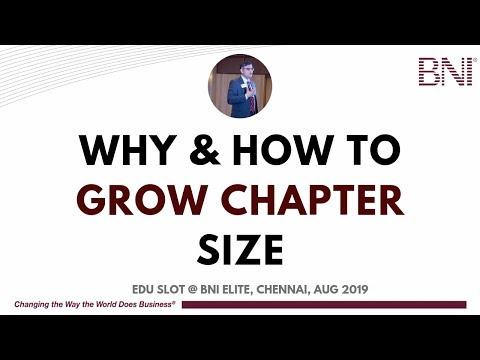 How To GROW BNI Chapter Size - BNI Elite Edu Slot
