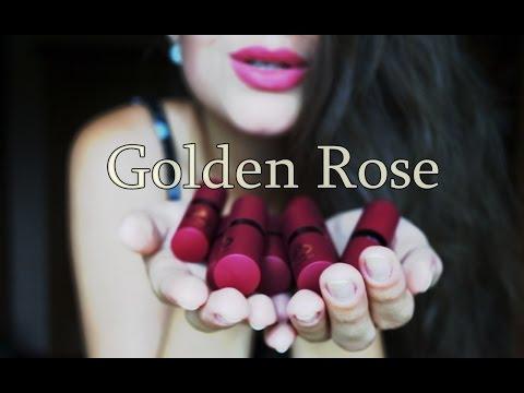 ОЧEНЬ БЮДЖЕТНО/ Матовые помады Golden Rose- VELVET MATTE LIPSTICK /декоративная косметика
