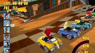 Woody Woodpecker Racing epsxe 1.9.25 gameplay