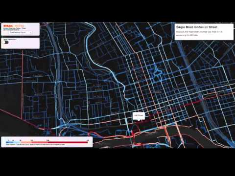 Visualisation of commuting data from Austin, Texas –video