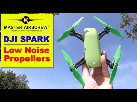 Low Noise Propellers for the DJI Spark from Master Airscrew!  Quick Review & Demo.
