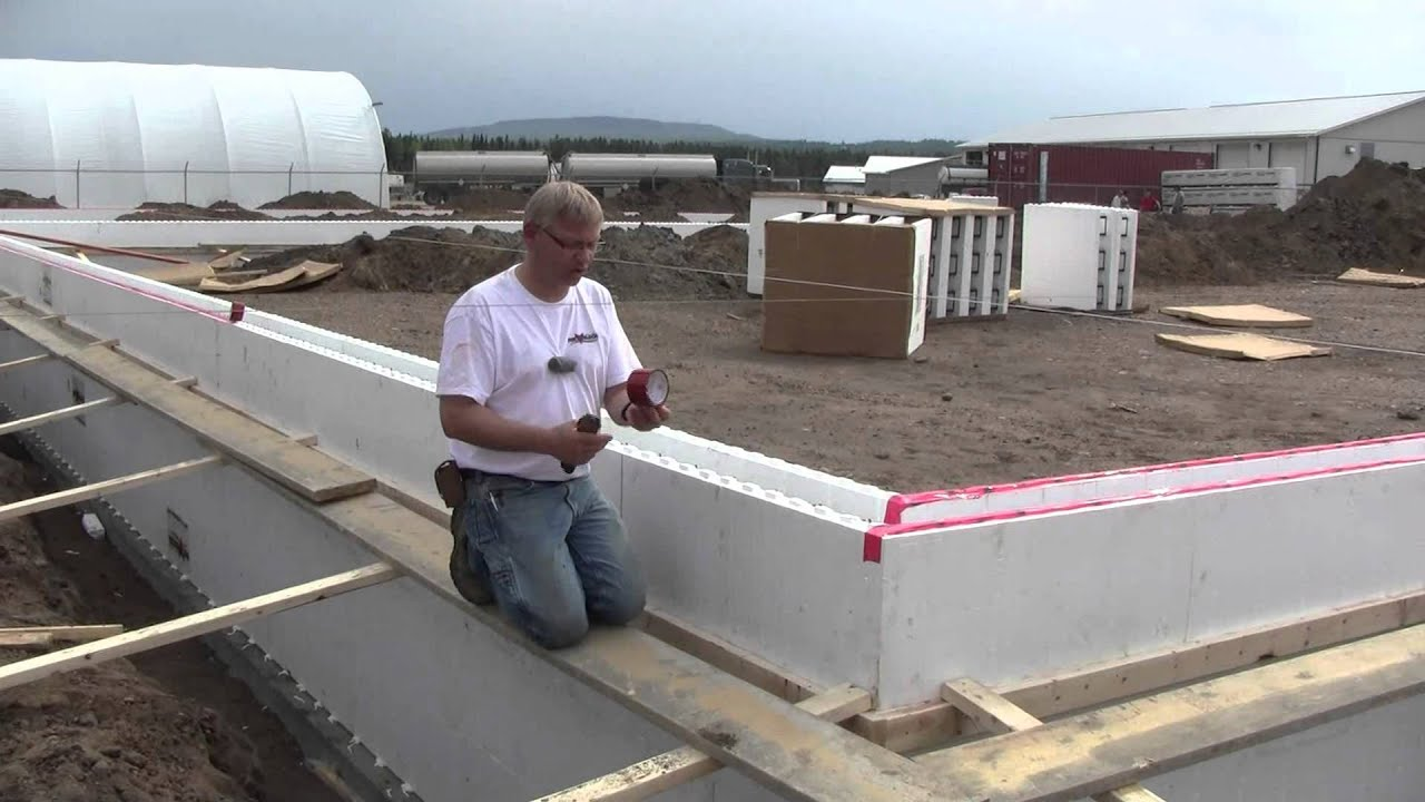 Fox Blocks Whitecourt Shop Part 1 Stem Walls Insulated