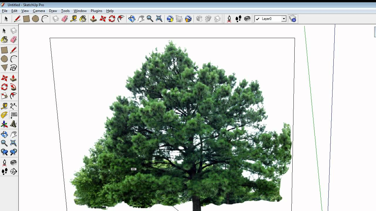 Face me Component in SketchUp: Making a Tree face the Camera