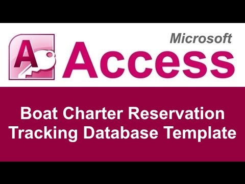 Microsoft Access Boat Charter Reservation Tracking Database Template