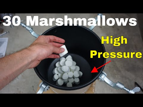 What Happens to 30 Marshmallows in a High Pressure Chamber?