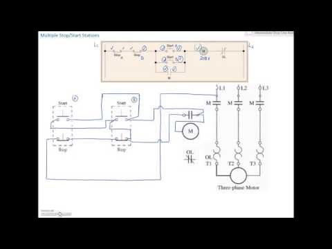 electrical wiring electrical circuits wiring tutorial youtubeladder diagram basics 4 (multiple stop start stations)