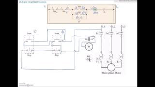 Ladder Diagram Basics #4 (Multiple Stop Start Stations)