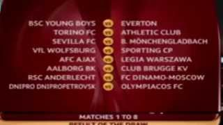 Uefa Europa League Draw 2014-15 Draw Final Results - TIRAGE AU SORT 15/12/2014
