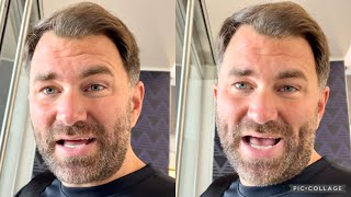 "EDDIE HEARN GIVES BJ SAUNDERS UPDATE ""HE'S GOT A TRIPLE FRACTURE IN HIS EYE SOCKET, HE'S OKAY"""
