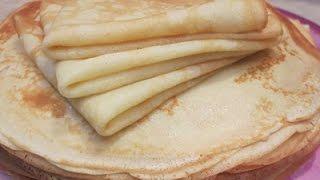 Классические блинчики на молоке! Очень вкусные! Classical pancakes with milk