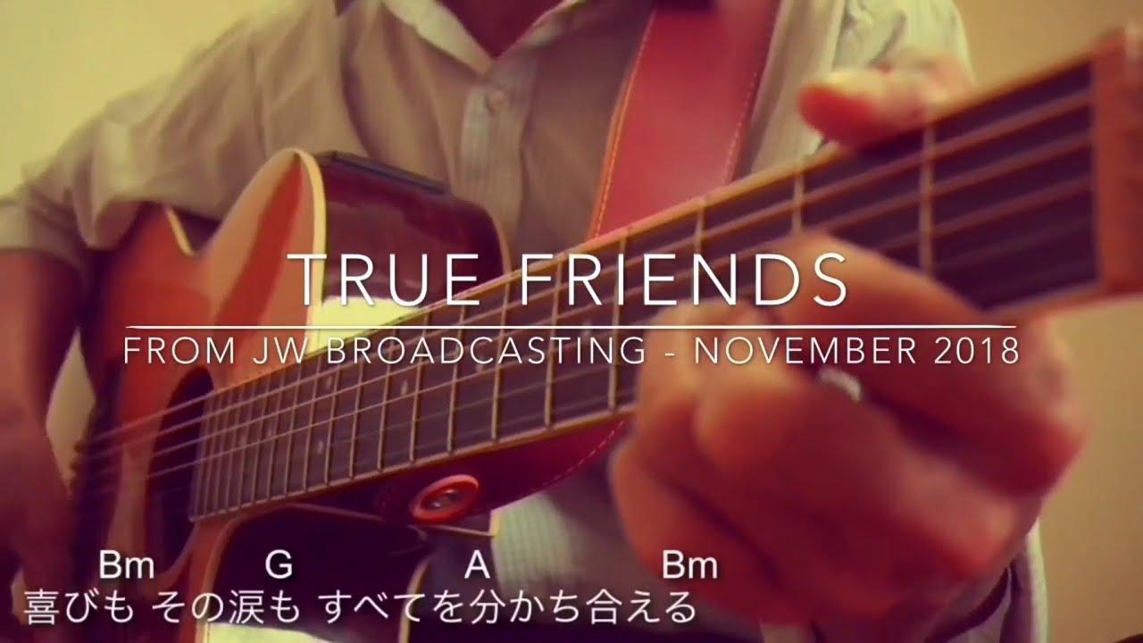 True Friends - in 4 languages (1min  guitar tutorial w/ chords) / JW  Broadcasting - Nov 2018