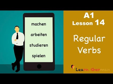 Learn German for beginners A1 - Verb Conjugation (Part 2) - Lesson 14