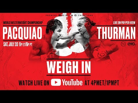 Pacquiao-Thurman weigh-in