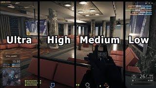 Battlefield Hardline: Graphics Comparison PC - (Low to Ultra)