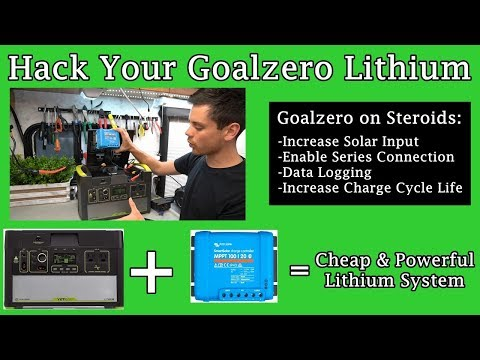 How to Hack the Goalzero Lithium by Adding a Powerful Victron Charge Controller