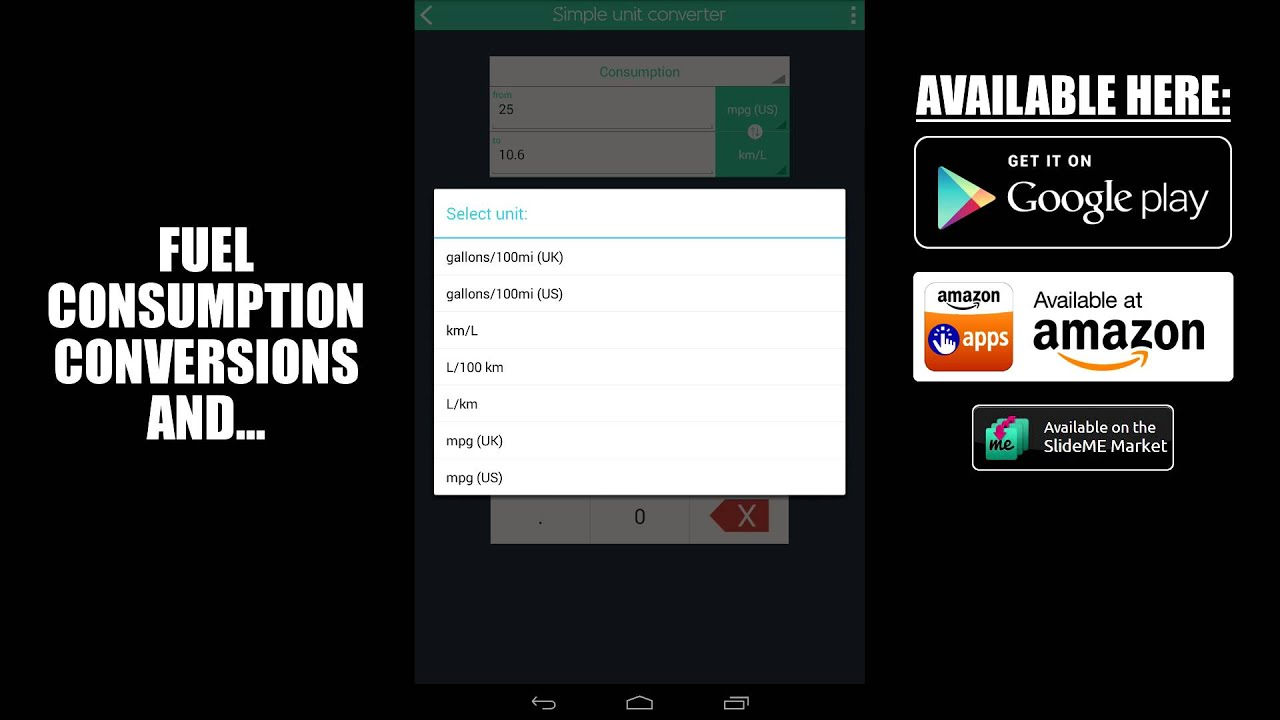 simple unit converter for android