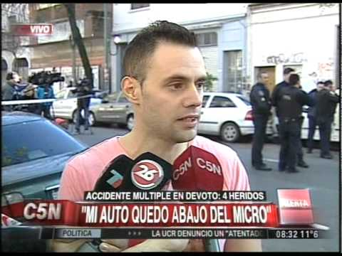 C5N - TRANSITO: ACCIDENTE MULTIPLE EN VILLA DEVOTO (PARTE 1)