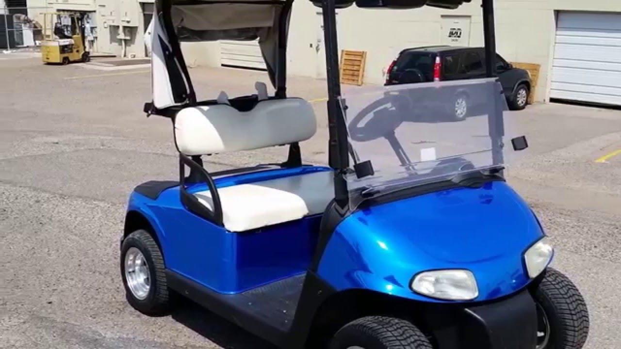 EZ-GO GOLF CAR BLUE CHROME VINYL WRAP