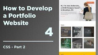 How to Develop a Responsive Portfolio | 03 CSS part 2