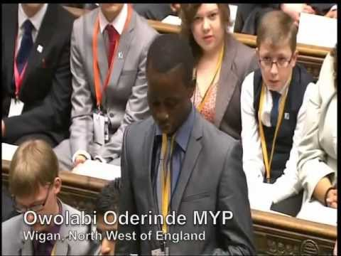 UK Youth Parliament - House Of Commons Debate November 2012
