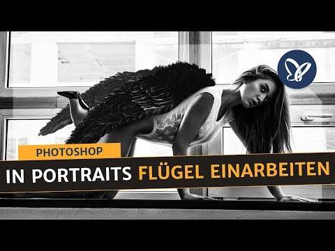 Photoshop-Tutorial: Flügel Bilder mit Overlays in Portraits einarbeiten thumbnail