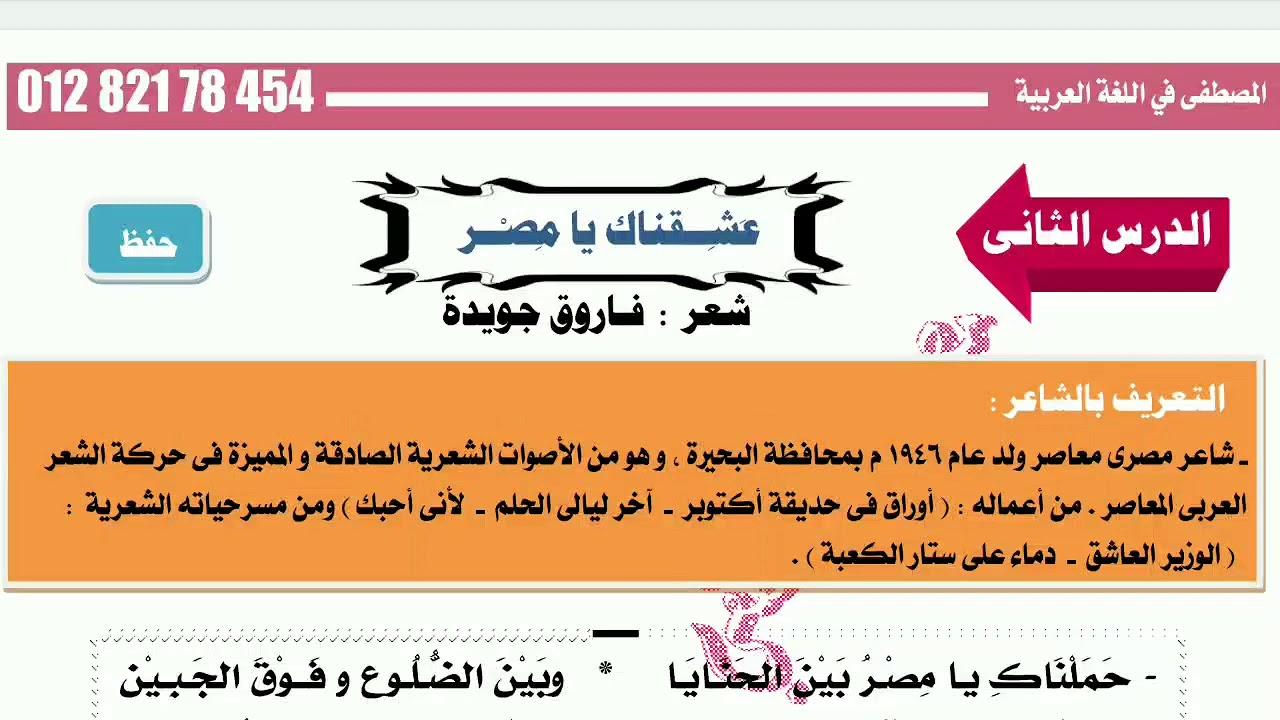 شرح نص عشقناك يا مصر للمتمير الأستاذ مصطفى الحنفى Youtube