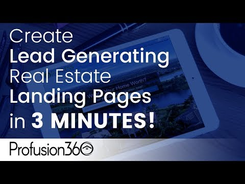 Create Lead Generating Real Estate Landing Pages in 3 MINUTES?
