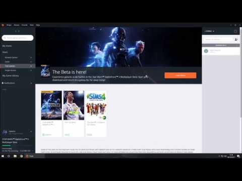 how to download star wars battlefront 2 beta on pc from origin youtube