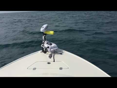 Offshore trolling motor replaces anchor