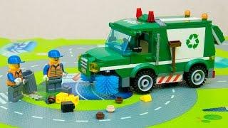 Лего Сити Мусоровоз. Обзор конструктора Лего. Lego City Garbage truck. Alex Toy Show(На главной улице города, двое рабочых убирали мусор, но мусора было настолько много, что рабочим нужно было..., 2016-11-15T20:58:47.000Z)