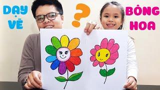Dạy vẽ bông hoa đơn giản dễ hiểu ♥ How To Draw Flower ♥